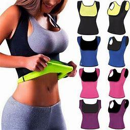 Women Sweat Sauna Body Shaper Neoprene Vest Slimming Waist Trainer Shapewear Hot, Size: Large, Black