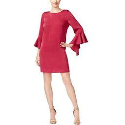 Bar III Womens Ruffled Bell Shift Dress, Women's, Size: XS, Pink