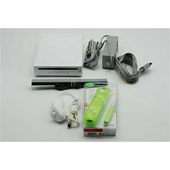 Nintendo Wii Console White With Cords Controller As Pictured - FREE US SHIPPING