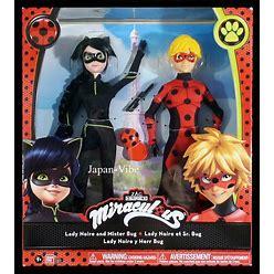 Miraculous Lady Noire & Mister Bug Fashion Dolls Set 2-Pack Bandai