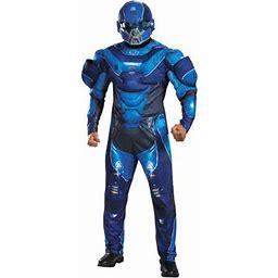 Blue Spartan Muscle Men's Adult Halloween Costume, Multicolor