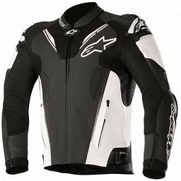 Alpinestars Atem Leather Jacket V3 (48, Black/White)