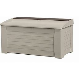 Suncast Deck Box,With Seat,127 Gal,Taupe Model: DB12000