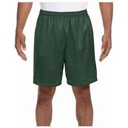 A4 Men's Comfort 7 Inch Lined Tricot Mesh Wicking Short, Style N5293, Size: XL, Green