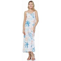 Hawaii Hangover Women's Hawaiian Luau Floral Print Maxi Sweetheart Dress 2XL Sandy Beach Cream, Beige