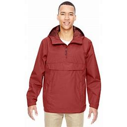 Ash City North End Ash City - North End Men's Excursion Intrepid Lightweight Anorak Jacket, Size: Large, Brown