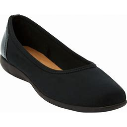 Extra Wide Width Women's The Lyra Flat By Comfortview In Black (7 XW)