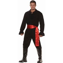 Black High Seas Bandit Men's Adult Halloween Costume, Size: 42-46