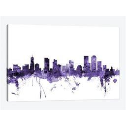Denver, Colorado Skyline Canvas Print Wall Art By Michael Tompsett
