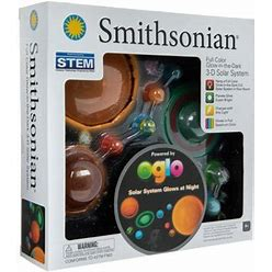 Full Color 3D Glow-In-The-Dark Solar System