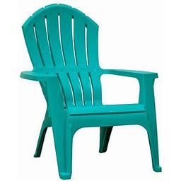 Adams Manufacturing RealComfort Outdoor Resin Stackable Adirondack Chair Teal, Size: 37.5 Inch H X 30 Inch W X 34 Inch D, Blue