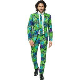 Opposuits Juicy Jungle Men's Suit Costume   Adult   Mens   Blue/Green   44   Opposuits