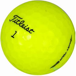 Used Titleist NXT Tour S Yellow Mix - 1 Dozen Golf Balls - Lost Golf Balls, 12 Count, AAAAA Mint Condition