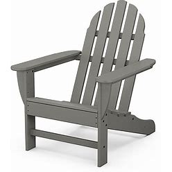 Polywood Classic Adirondack Chair In Slate Grey - Polywood - Outdoor Relaxers - Slate Grey