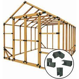 E-Z Frames 10' W X 14' D DIY Storage Shed Kit In Black/Brown, Size 102.0 H X 60.0 W X 168.0 D In   Wayfair