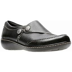 Clarks Womens Ashland Lane Slip-On Shoe, 8 Wide, Black