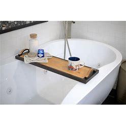 Hand Carved Handles / Wooden Bath Tray/ Wood Bathtub Board/ Wine Rack/ Spa/ Valentines/ Anniversary/ Bath Caddy /Bathroom Decor/ Cabin Decor
