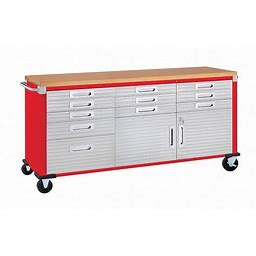 Seville Classics Ultrahd Rolling Workbench - Red