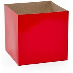 50Ea - 10 X 10 X 3 Red Heavy Wall Gift Box Bottom By Paper Mart, Men's, Size: 10 X 10 | Quantity Of: 50