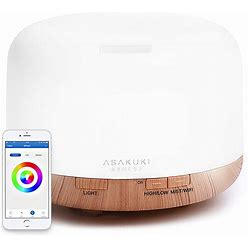 Asakuki Smart Wi-Fi Essential Oil Diffuser, App Control Compatible With Alexa, 2020 Upgrade 500Ml Aromatherapy Humidifier For Relaxing Atmosphere In Bedroom And Office-Better Sleeping&Breathing