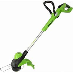 Greenworks 24-Volt 11-In Telescopic Cordless String Trimmer With Edger Capable (Battery Not Included)   ST24L00