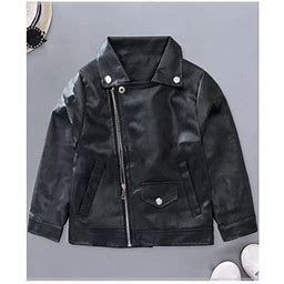 Baby Boys Handsome Collar Neck Side Zipper Warm Stylish Jacket, Infant Boy's, Size: 12 Months, Black