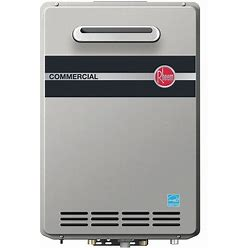 """Rheem 18 1/2 In"""" X 9 1/4 In"""" X 27 1/2 In Gas Tankless Water Heater, 199,900 Btuh, Natural Gas Model: RTGH-CM95XLN"""
