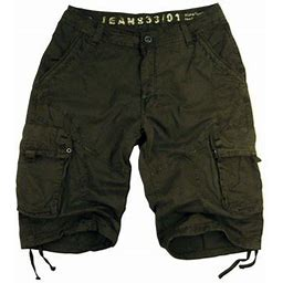 Stone Touch Jeans Stone Touch Men's Military-style Cargo Shorts, 27s-DOG Size:30, Green