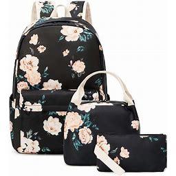 School Backpacks For Girls Lightweight Teen Girls Backpack Bookbag Set