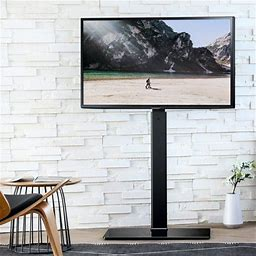 Fitueyes Floor TV Stand With Swivel Mount For Up To 55 Inch Samsung Vizio TCL LED LCD Flat Screen TVs Tt106001mb, Size: 25.6 X 15.7 X 54.6, Black