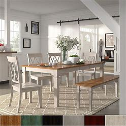Elena Antique White Extendable Rectangular Dining Set With Double X-Back By Inspire Q Classic - 5-Piece Sets - White Chairs