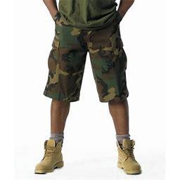Rothco Extra Long Woodland Camo BDU Cargo Short, Men's, Size: 3XL, Green