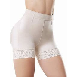 Shape Concept Scs001 Butt Lifter Shorts Levanta Cola Colombianos High-Compression Girdle Firm Control Shapewear Shorts, Women's, Size: XL, Beige