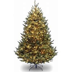 Red Barrel Studio® Natural Fraser Fir 7.5' Green Artificial Christmas Tree With 1000 Clear/White Lights In Green/White   Size 90.0 H X 60.0 W In