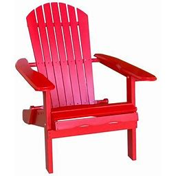 Leigh Country Adirondack Outdoor Folding Chair Red