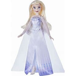 Disney Frozen 2 Snow Queen Elsa Fashion Doll, Dress, Shoes, And Long Blonde Hair, Toy For Kids 3 Years Old And Up