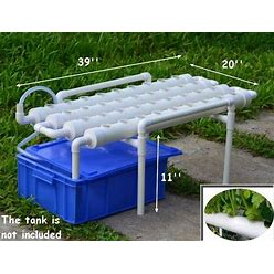 Hydroponic Grow Kit 36 Sites 4 Pipes 1 Layer Garden Plant Vegetable
