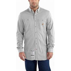 Carhartt Flame-Resistant Force Cotton Hybrid Shirt   Light Gray   4XL