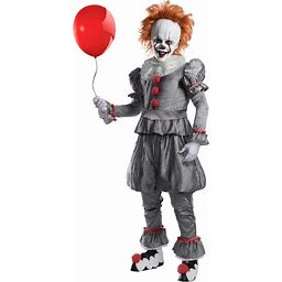 IT Adult Pennywise Costume For Adults | Adult | Mens | Gray/Orange/White | M | Charades