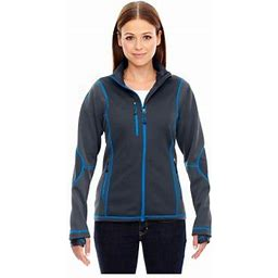 Ash City North End North End Pulse Women's Textured Fleece Jacket, Style 78681, Size: 2XL, Blue