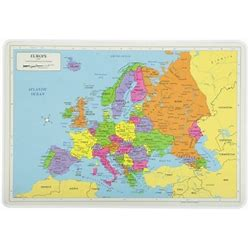 Painless Learning Europe Map Placemat By M. Ruskin