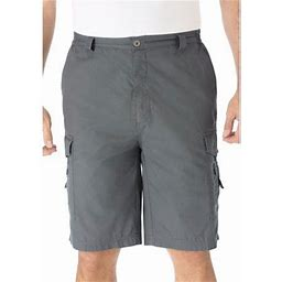 Kingsize Men's Big & Tall 10 Inch Canyon Cargo Shorts, Size: Tall - 36, Gray