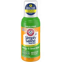 Arm & Hammer Simply Saline Nasal Mist, Allergy & Sinus Relief - 4.6 Oz