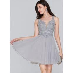 Jjshouse A-Line Sweetheart Short Mini Chiffon Homecoming Dress With Beading Sequins