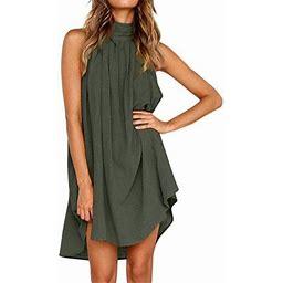 Vista Women Holiday Irregular Ladies Summer Beach Sleeveless Party Dress, Women's, Size: 2XL, Green
