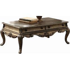 ACME FURNITURE Ragenardus Wooden Top Wood Coffee Table In Brown | 86030