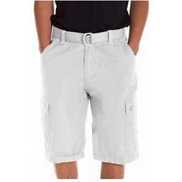 Alta Designer Fashion Men S Cargo Shorts Twill Belt Included - Multiple Colors, Men's, Size: 38