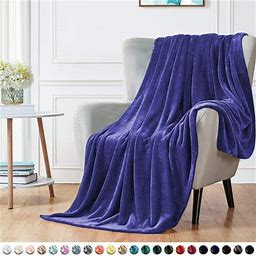 Musuos Double Layer Soft Lamb Wool Blanket, Thick Solid Color Warm Blanket, Winter Home Quilt, Size: One Size, Blue