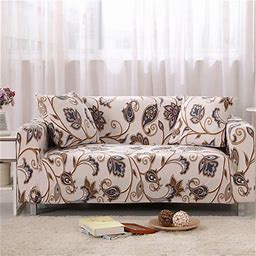 1 2 3 Seater Floral Elastic Soft Sofa Couch Covers Stretch Slipcover Protector, Blue
