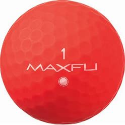 Maxfli Softfli Matte Golf Balls - Red